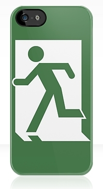 Running Man Exit Sign Apple iPhone 5 Mobile Phone Case 134