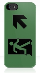 Running Man Exit Sign Apple iPhone 5 Mobile Phone Case 140