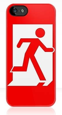 Running Man Exit Sign Apple iPhone 5 Mobile Phone Case 141
