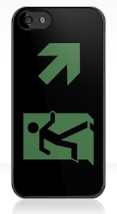 Running Man Exit Sign Apple iPhone 5 Mobile Phone Case 143