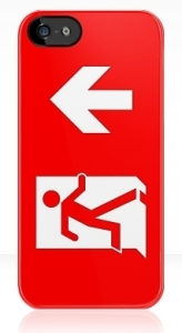 Running Man Exit Sign Apple iPhone 5 Mobile Phone Case 144