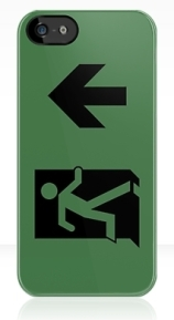 Running Man Exit Sign Apple iPhone 5 Mobile Phone Case 146