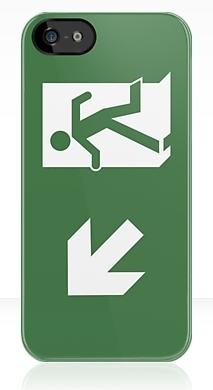 Running Man Exit Sign Apple iPhone 5 Mobile Phone Case 152