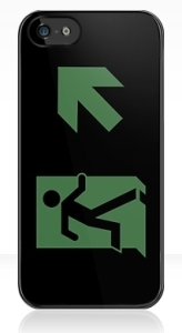 Running Man Exit Sign Apple iPhone 5 Mobile Phone Case 154