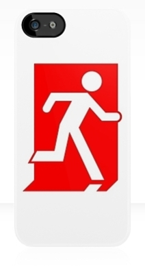 Running Man Exit Sign Apple iPhone 5 Mobile Phone Case 155