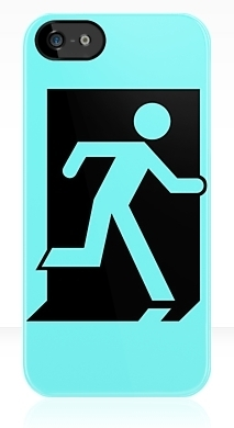 Running Man Exit Sign Apple iPhone 5 Mobile Phone Case 158