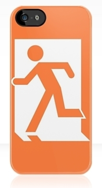 Running Man Exit Sign Apple iPhone 5 Mobile Phone Case 16