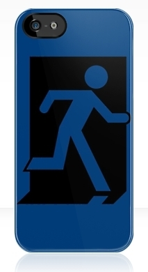 Running Man Exit Sign Apple iPhone 5 Mobile Phone Case 160
