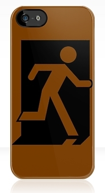 Running Man Exit Sign Apple iPhone 5 Mobile Phone Case 161
