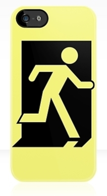 Running Man Exit Sign Apple iPhone 5 Mobile Phone Case 162
