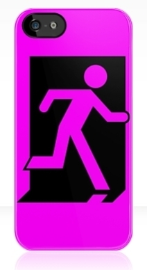 Running Man Exit Sign Apple iPhone 5 Mobile Phone Case 163