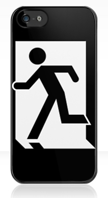 Running Man Exit Sign Apple iPhone 5 Mobile Phone Case 17