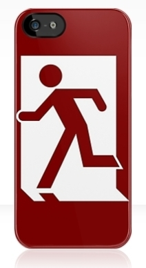 Running Man Exit Sign Apple iPhone 5 Mobile Phone Case 18