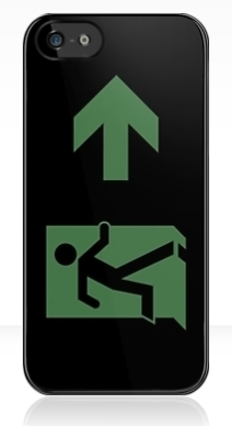Running Man Exit Sign Apple iPhone 5 Mobile Phone Case 2