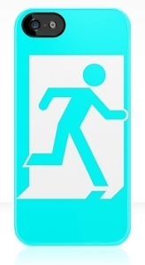 Running Man Exit Sign Apple iPhone 5 Mobile Phone Case 20