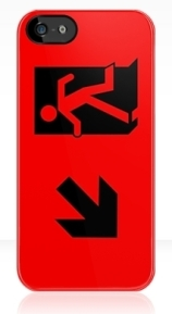 Running Man Exit Sign Apple iPhone 5 Mobile Phone Case 22