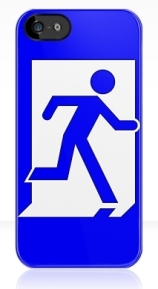 Running Man Exit Sign Apple iPhone 5 Mobile Phone Case 23