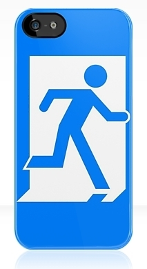 Running Man Exit Sign Apple iPhone 5 Mobile Phone Case 25
