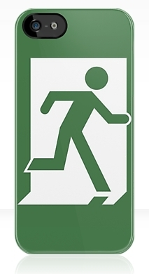 Running Man Exit Sign Apple iPhone 5 Mobile Phone Case 26