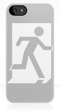 Running Man Exit Sign Apple iPhone 5 Mobile Phone Case 27