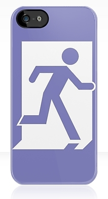Running Man Exit Sign Apple iPhone 5 Mobile Phone Case 29