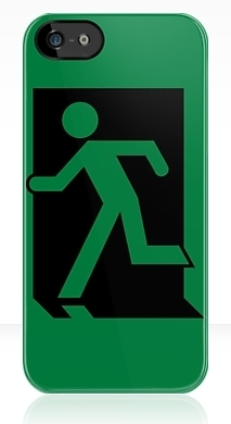 Running Man Exit Sign Apple iPhone 5 Mobile Phone Case 3