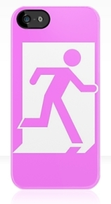 Running Man Exit Sign Apple iPhone 5 Mobile Phone Case 30