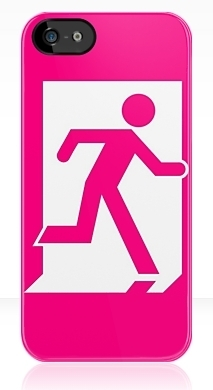 Running Man Exit Sign Apple iPhone 5 Mobile Phone Case 31