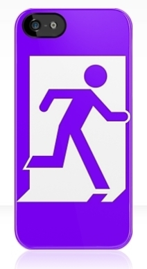 Running Man Exit Sign Apple iPhone 5 Mobile Phone Case 32