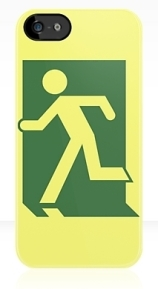 Running Man Exit Sign Apple iPhone 5 Mobile Phone Case 33