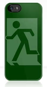 Running Man Exit Sign Apple iPhone 5 Mobile Phone Case 34