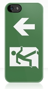 Running Man Exit Sign Apple iPhone 5 Mobile Phone Case 35