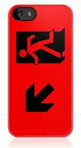 Running Man Exit Sign Apple iPhone 5 Mobile Phone Case 36