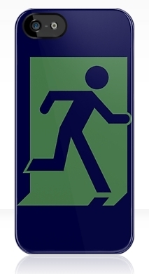 Running Man Exit Sign Apple iPhone 5 Mobile Phone Case 37