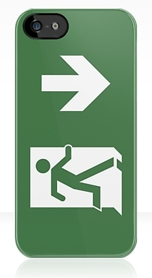 Running Man Exit Sign Apple iPhone 5 Mobile Phone Case 38