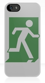 Running Man Exit Sign Apple iPhone 5 Mobile Phone Case 39