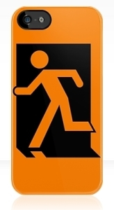 Running Man Exit Sign Apple iPhone 5 Mobile Phone Case 4