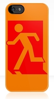 Running Man Exit Sign Apple iPhone 5 Mobile Phone Case 40