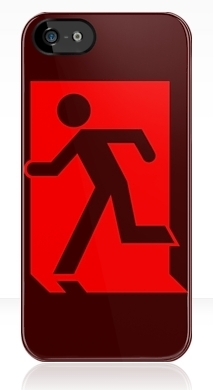 Running Man Exit Sign Apple iPhone 5 Mobile Phone Case 41