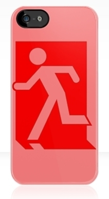 Running Man Exit Sign Apple iPhone 5 Mobile Phone Case 42