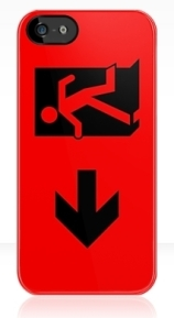 Running Man Exit Sign Apple iPhone 5 Mobile Phone Case 43