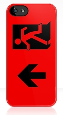 Running Man Exit Sign Apple iPhone 5 Mobile Phone Case 44