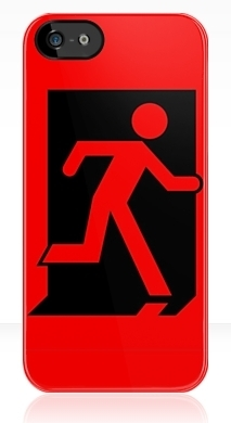 Running Man Exit Sign Apple iPhone 5 Mobile Phone Case 45