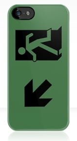 Running Man Exit Sign Apple iPhone 5 Mobile Phone Case 46