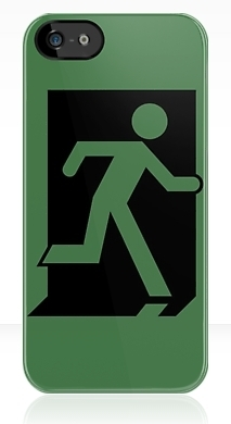 Running Man Exit Sign Apple iPhone 5 Mobile Phone Case 47