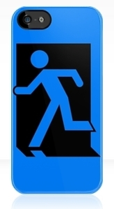 Running Man Exit Sign Apple iPhone 5 Mobile Phone Case 5