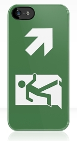 Running Man Exit Sign Apple iPhone 5 Mobile Phone Case 50