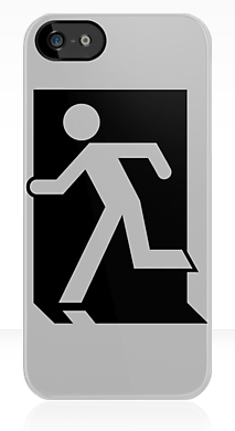 Running Man Exit Sign Apple iPhone 5 Mobile Phone Case 6
