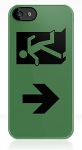 Running Man Exit Sign Apple iPhone 5 Mobile Phone Case 60