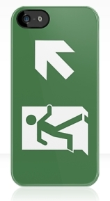 Running Man Exit Sign Apple iPhone 5 Mobile Phone Case 62